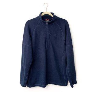 The North Face Navy Fleece Quarter Zip Jacket